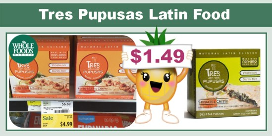 Tres Pupusas Latin Food Coupon Deal