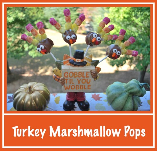 Chocolate Turkey Marshmallow Pops