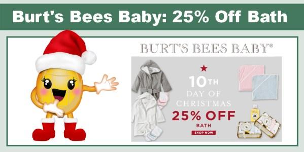 Burt's Bees Baby 25% Off Bath