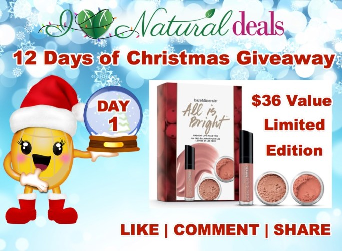 Bare Minerals All is Bright Radiant Lip & Face Trio Giveaway