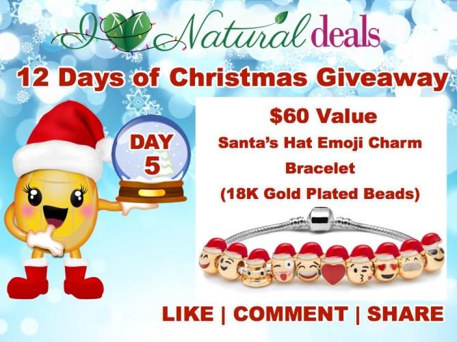 Win a Santa Hats Emoji Charm Bracelet!