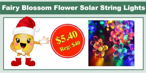 Fairy Blossom Flower Solar String Lights