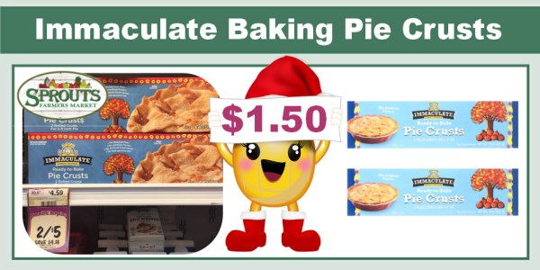 Immaculate Baking Pie Crusts Coupon Deal