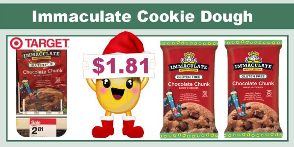 Immaculate Gluten Free Chocolate Chunk Cookie Dough Coupon Deal