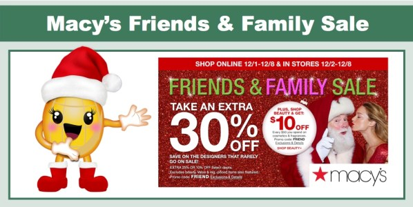 macy's friends & family sale