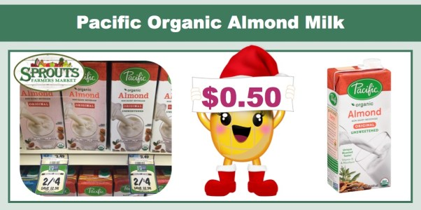 pacific organic almond milk coupon deal
