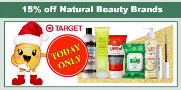 Extra 15% off Natural Beauty Brands at Target!