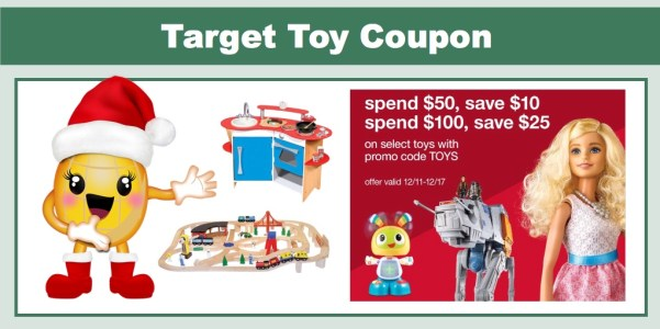 Target Toy Coupon - $10 off $50 or $25 off $100 Purchase!