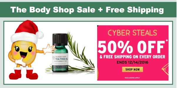 The Body Shop: Cyber Steals 50% Off + FREE Shipping