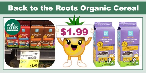 Back to the Roots Organic Stoneground Flakes Cereal Coupon Deal