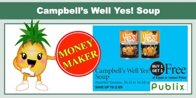 Campbell's Well Yes Soup Coupon Deal