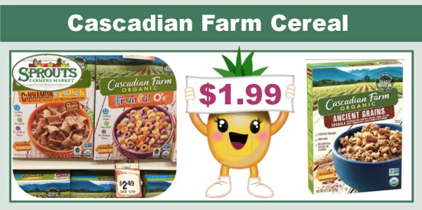 Cascadian Farm Cereal Coupon Deal