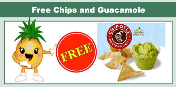 Chipotle - FREE Chips and Guacamole with Entree Purchase