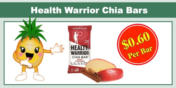Health Warrior Chia Bars, 15 Pack
