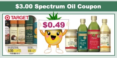 Spectrum Culinary Oils Coupon