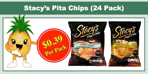 Stacy's Pita Chips (24 Pack, 1.5 oz)