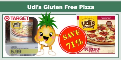 Udi's Gluten Free Pizza Coupon Deal