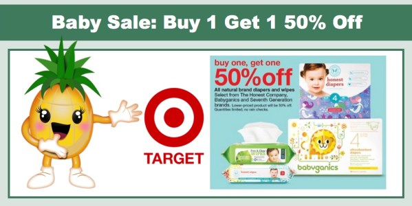 Target: Buy 1 Get 1 50% off on Seventh Generation, Babyganics and The Honest Company!