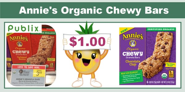 Annie's Organic Chewy Bars Coupon Deal
