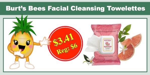 Burt's Bees Facial Cleansing Towelettes, Pink Grapefruit