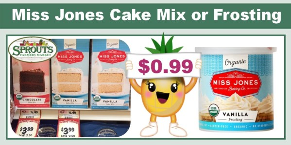 Miss Jones Organic Cake Mix or Frosting Coupon Deal