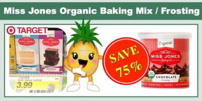 Miss Jones Organic Baking Mix Frosting Coupon Deal