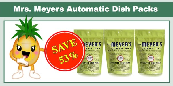 Mrs. Meyers Automatic Dish Packs
