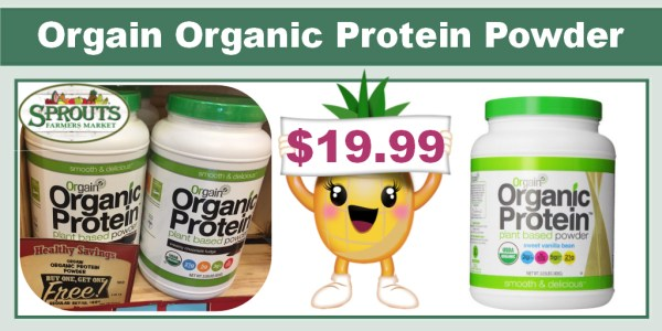 Orgain Organic Protein Powder Coupon Deal