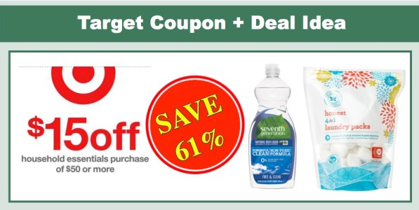 Target: $15 off $50 Household Essentials Coupon