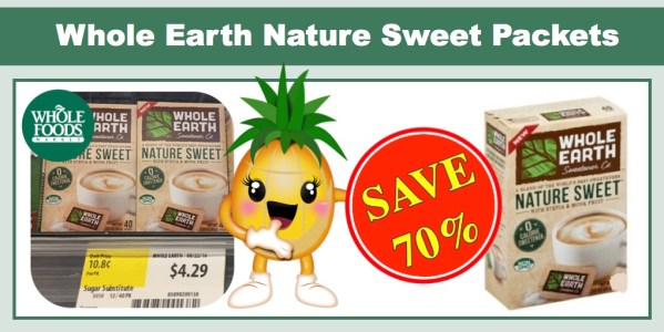 Whole Earth Sweetener Nature Sweet Packets Coupon Deal