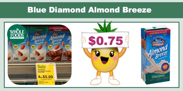 Blue Diamond Almond Breeze Almondmilk Coupon Deal