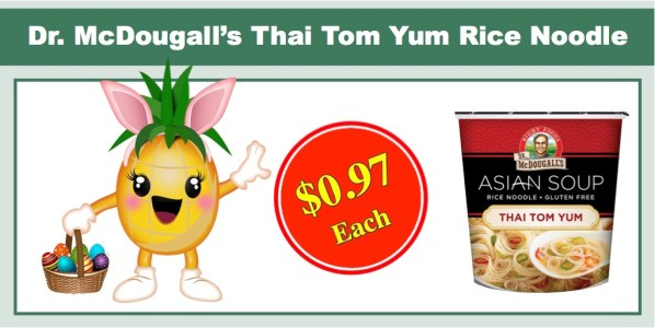 Dr. McDougall's Thai Tom Yum Rice Noodle