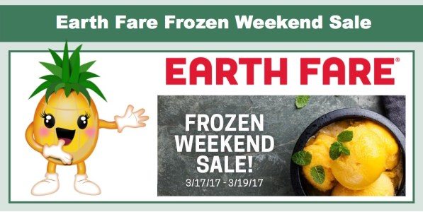 Earth Fare Frozen BOGO Weekend Sale