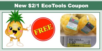 New $2/1 EcoTools Coupon = FREE Bath Sponge at Multiple Stores!