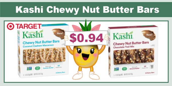 Kashi Chewy Nut Butter Bars Coupon Deal