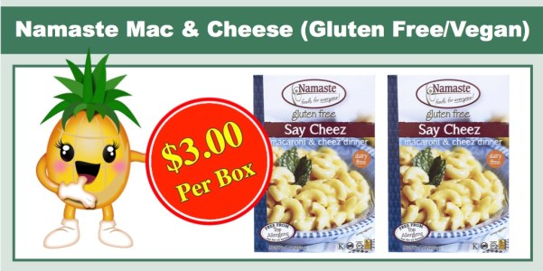 Namaste Foods Say Cheez Gluten Free Mac & Cheese, 6 Pack