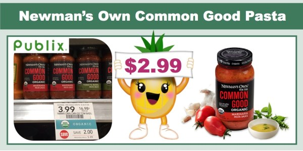 Newman's Own for the Common Good Organic Pasta Sauce