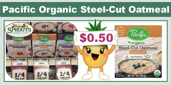 Pacific Organic Steel-Cut Oatmeal Coupon Deal