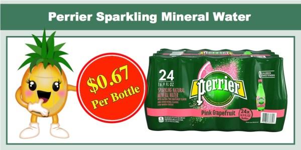 Perrier Sparkling Mineral Water Pink Grapefruit 24 Pack