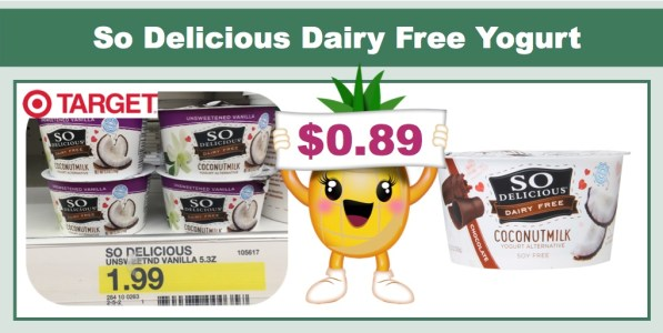 So Delicious Dairy Free Yogurt Coupon Deal