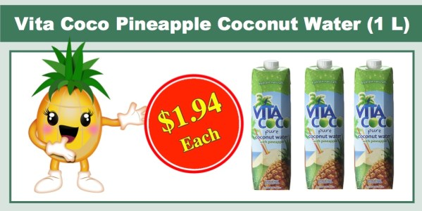 Vita Coco Pineapple Coconut Water (1 L)