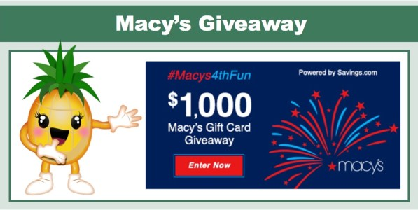 Macy's $1000 Gift Card Giveaway!