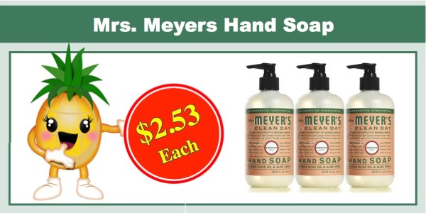 Mrs. Meyers Hand Soap Deal