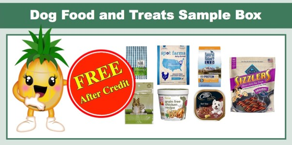 Dog Food and Treats Sample Box