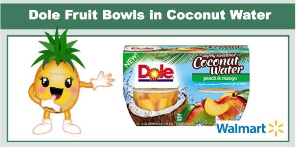 Dole Fruit Bowls in Coconut Water