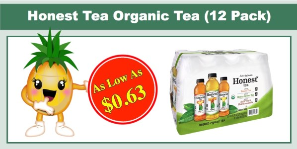 Honest Tea Brewed Organic Tea (Variety 12 Pack)