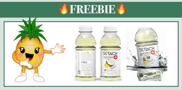 Free DETACH Coconut+ Water & Free T-Shirt