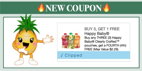 Happy Baby Clearly Crafted Baby Food Coupon