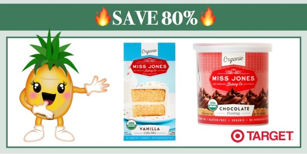 Miss Jones Organic Baking Mix or Frosting Coupon Deal