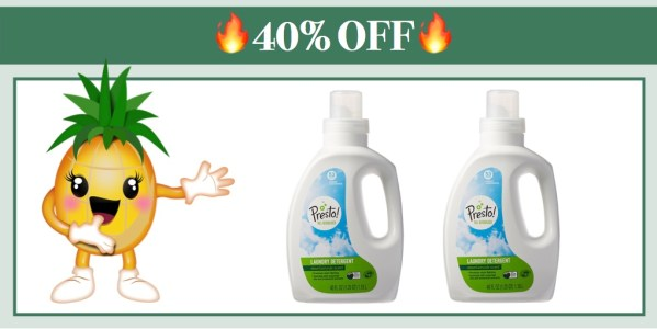 Presto! 96% Biobased Liquid Laundry Detergent